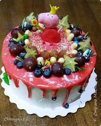 Вот такой яркий с пряничками получился у меня тортик на годовасие одной очень миленькой девчушке ))) фото 8
