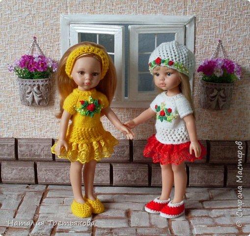 Приветствую всех! Мы с моими девочками хотим похвастаться новыми нарядами из нашей «Весенней коллекции». Как же нам с мамой нравится создавать эти наряды. Чувствую заболела я этим делом всерьез и надолго:) Паолочки словно созданы для того, чтобы их бесконечно наряжали и любовались ими. Писать много не буду, посмотрите и оцените нас сами:)  фото 1