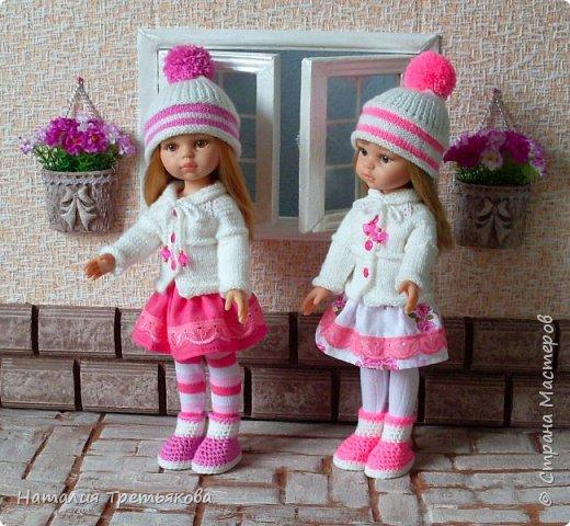 Приветствую всех! Мы с моими девочками хотим похвастаться новыми нарядами из нашей «Весенней коллекции». Как же нам с мамой нравится создавать эти наряды. Чувствую заболела я этим делом всерьез и надолго:) Паолочки словно созданы для того, чтобы их бесконечно наряжали и любовались ими. Писать много не буду, посмотрите и оцените нас сами:)  фото 14