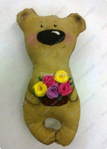 Работы Надюши (3 класс) - !!!!!! Кофейный мишка с розами фото 1