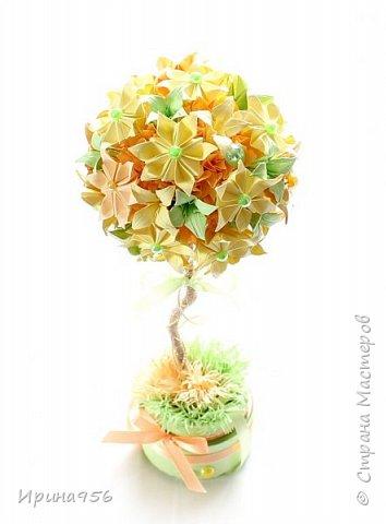 Из бумаги. Торцевание + цветы оригами + бусины. фото 3