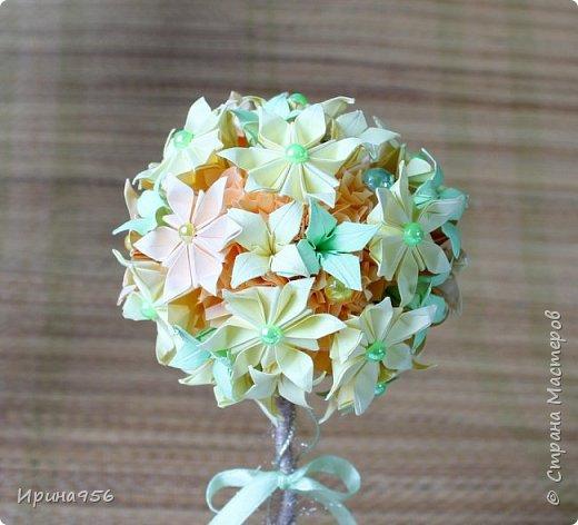Из бумаги. Торцевание + цветы оригами + бусины. фото 17