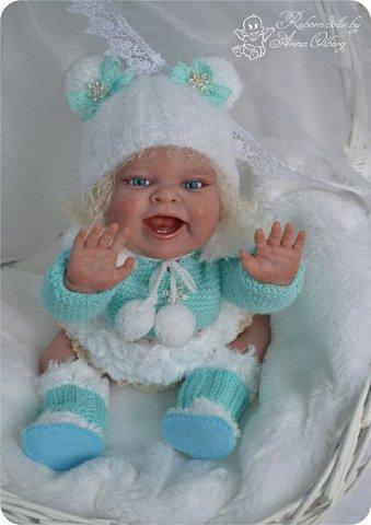 """Здравствуйте, девочки-мастерицы! В преддверии 1 апреля """"родилась"""" у меня смешная девочка Иришка. Хотим вам показаться. Рост 36см, вес около 1 кг... фото 10"""