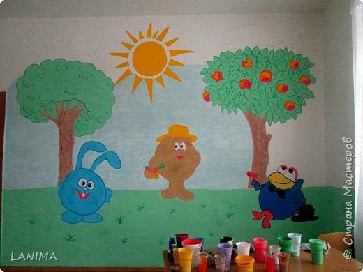 рисунок выбирали дети, фото только с одной стены но разрисовали все четыре фото 1