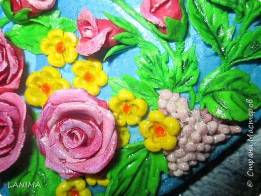 ну вот и ещё один кружочек с цветами. фото 4