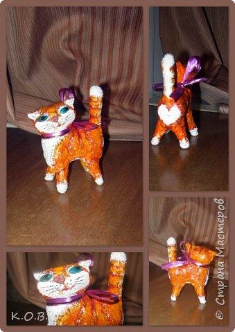 Ватный кот на елку фото 2