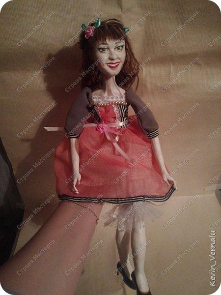 Всем снова привет.Вот и закончила свой необычный заказ....И выкладываю Мини мастер класс по созданию образа портретной куколки. фото 20
