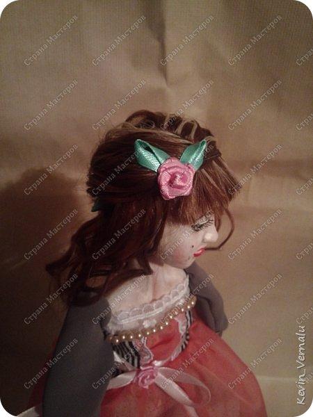 Всем снова привет.Вот и закончила свой необычный заказ....И выкладываю Мини мастер класс по созданию образа портретной куколки. фото 17