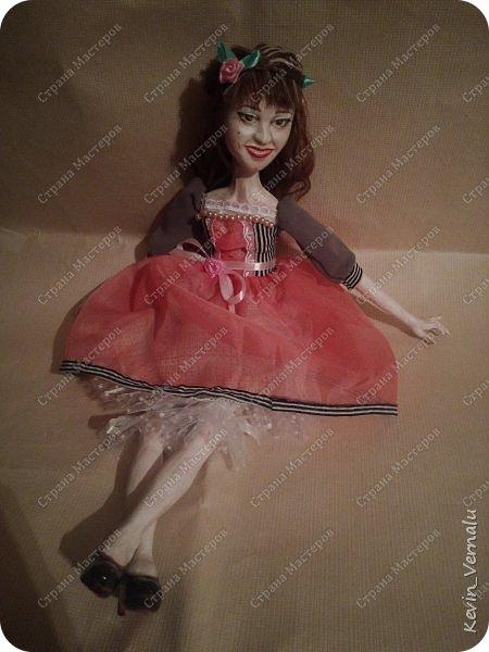 Всем снова привет.Вот и закончила свой необычный заказ....И выкладываю Мини мастер класс по созданию образа портретной куколки. фото 21