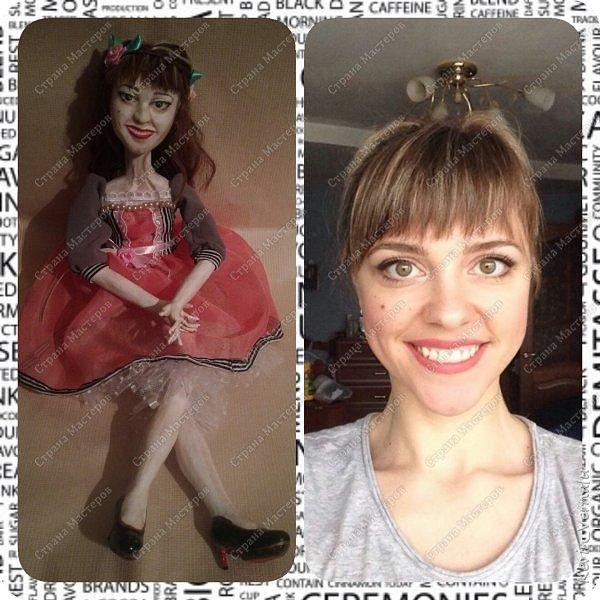 Всем снова привет.Вот и закончила свой необычный заказ....И выкладываю Мини мастер класс по созданию образа портретной куколки. фото 24