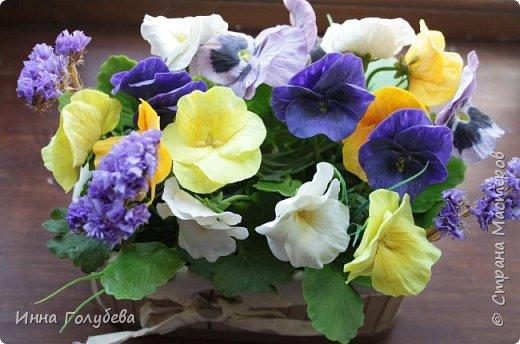 Теплым и солнечным, радостным летом синим и белым, и смешанным цветом, шепчут весёлые, яркие сказки эти цветочки АНЮТИНЫ ГЛАЗКИ.  Бабочек, синих и жёлтых, и белых много на клумбу цветочную село. Сами узнаете их без подсказки это цветочки - АНЮТИНЫ ГЛАЗКИ  О. Огланова Вот такую клумбочку слепила на заказ) фото 4