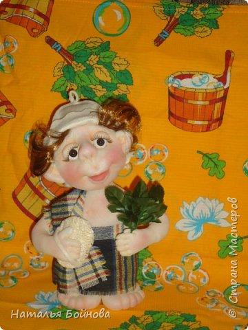 Кукла выполнена в скульптурно- текстильной технике фото 3