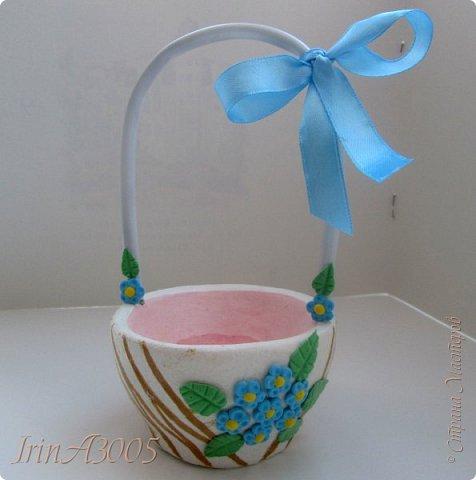 Вот такую корзиночку для пасхального яичка я слепила к празднику. фото 23