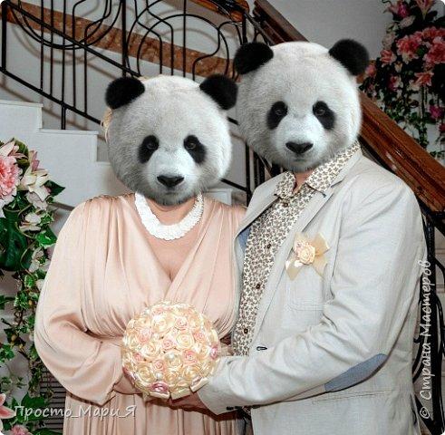 не моя свадьба, а черных квадратов не хотелось))) поэтому женятся ПАНДЫ)))) фото 1