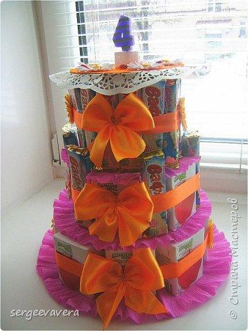 Хочется показать еще один тортик , делала его в детсад на день рожденье маленькой девочки. Всем мастерицам спасибо за идею. фото 5