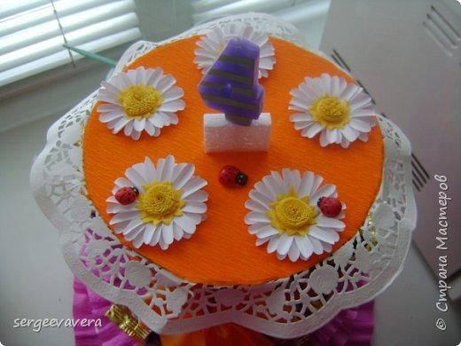 Хочется показать еще один тортик , делала его в детсад на день рожденье маленькой девочки. Всем мастерицам спасибо за идею. фото 2