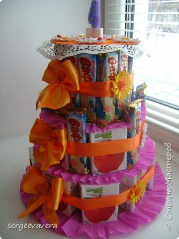 Хочется показать еще один тортик , делала его в детсад на день рожденье маленькой девочки. Всем мастерицам спасибо за идею. фото 3