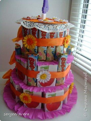 Хочется показать еще один тортик , делала его в детсад на день рожденье маленькой девочки. Всем мастерицам спасибо за идею. фото 4
