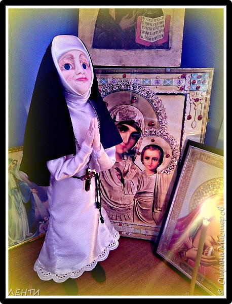 Приветствую вас жители волшебной страны! Хочу представить вам новую свою работу! Вот такая  монахиня поселилась теперь в моём доме!   фото 3