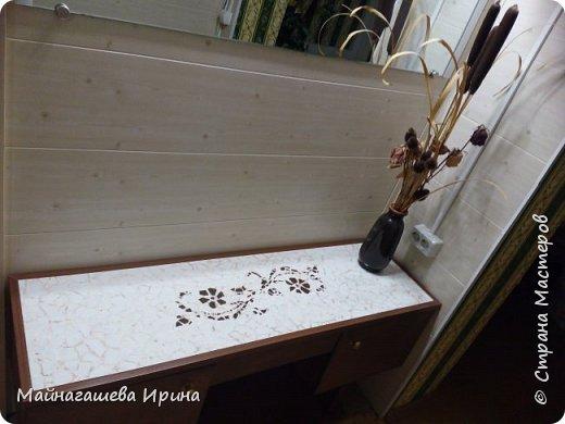встроенный столик в прихожей, дополнение к тумбочке. фото 2