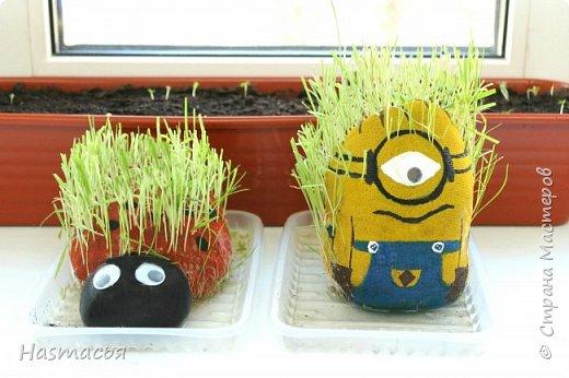 Всем доброго времени! В детском садике сказали принести травянчиков на каждого ребенка, так как у меня их двое, мы решили сэкономить и сделать их сами!  фото 7