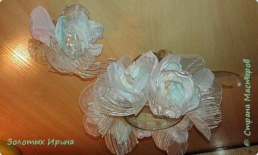 Топиарии из атласных лент. Были сделаны и в других цветовых вариантах. Проба оказалось удачной. фото 3