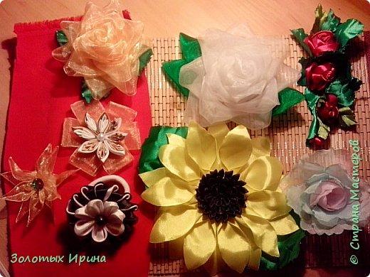 Топиарии из атласных лент. Были сделаны и в других цветовых вариантах. Проба оказалось удачной. фото 8