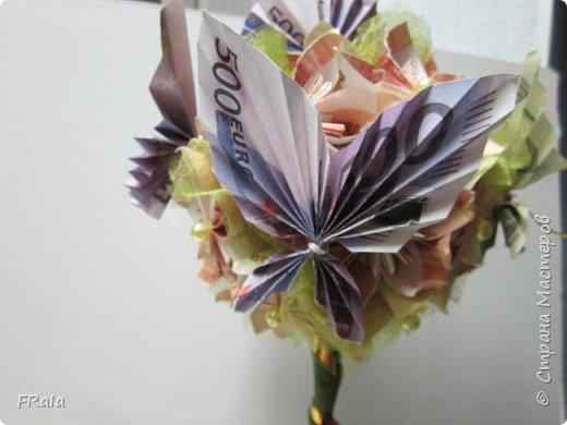 Денежное деревце создано в подарок подруге с пожеланиями счастья и достатка в жизни. фото 4