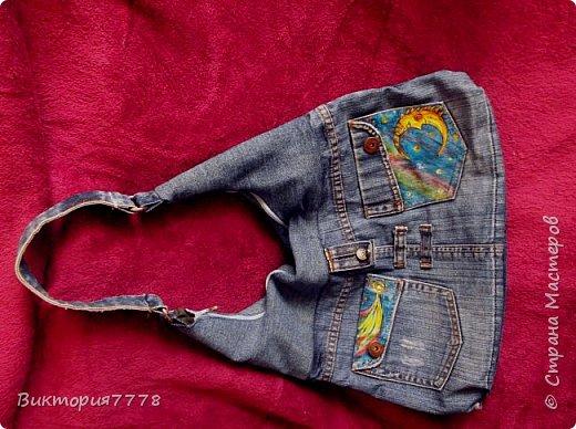 Привет, Страна! Покажу, как старая джинсовая юбочка дочери получила вторую жизнь. фото 5