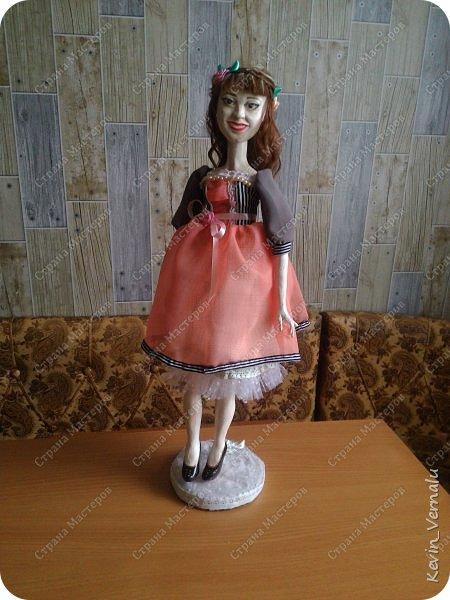Всем снова привет.Вот и закончила свой необычный заказ....И выкладываю Мини мастер класс по созданию образа портретной куколки. фото 27