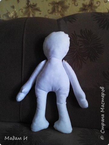 Всем доброго время суток!!! Вот решила сшить куклу!!! Эта первая моя кукла , так что не судите строго.... Куклу звать Дашенька!!! Вот такая заготовочка, конечно не ахти... фото 1