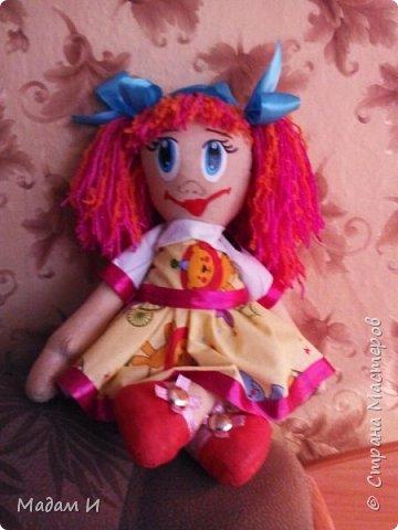 Всем доброго время суток!!! Вот решила сшить куклу!!! Эта первая моя кукла , так что не судите строго.... Куклу звать Дашенька!!! Вот такая заготовочка, конечно не ахти... фото 2