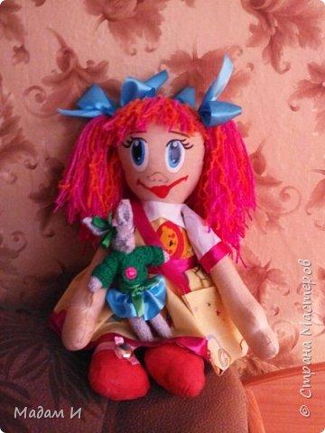 Всем доброго время суток!!! Вот решила сшить куклу!!! Эта первая моя кукла , так что не судите строго.... Куклу звать Дашенька!!! Вот такая заготовочка, конечно не ахти... фото 3