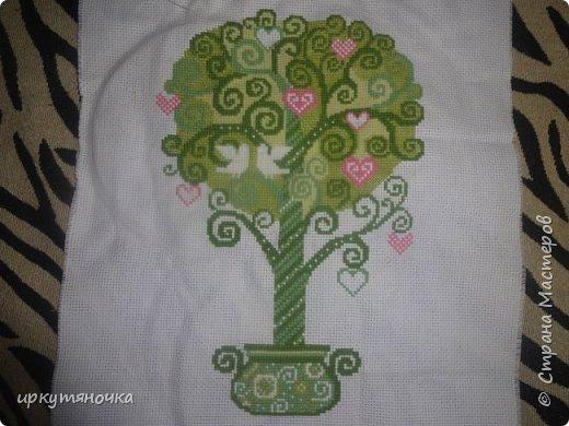 А вот мое дерево в процессе. Здесь без бисера и украшений фото 1