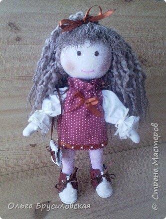 Привет всем в СМ! Мое увлечение шитьем кукол продолжается. Не все получается, изъянов много, кукляшки пока простенькие, с простыми мордочками...   Но люблю их всех очень-очень! Куклы как дети; их просто любишь и все - они ведь твои родные... фото 2