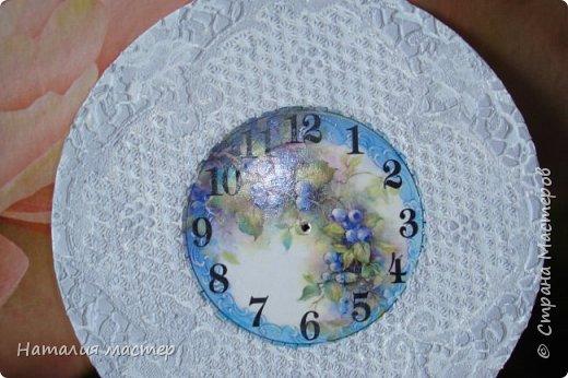 Решила сделать очередные часы,переделывала их раза четыре,это окончательный вариант. фото 2
