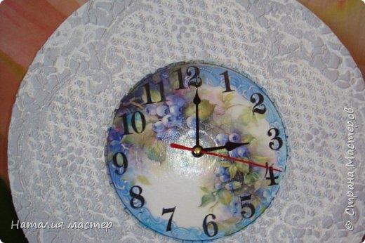 Решила сделать очередные часы,переделывала их раза четыре,это окончательный вариант. фото 1