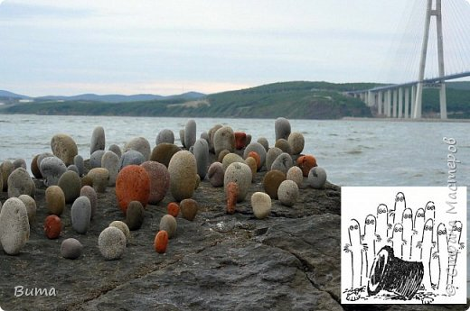 Хорошо летом у моря. Можно строить всякую ерунду из камней. фото 6