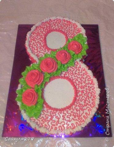 Привет всем!!! Вот показываю вам свои тортики, сделанные за март месяц. На главный праздник  конечно же заказывали тортик для мамы вот с таким детенышем!!!  Красавчик, мне самой очень понравился. фото 5