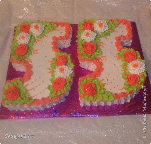 Привет всем!!! Вот показываю вам свои тортики, сделанные за март месяц. На главный праздник  конечно же заказывали тортик для мамы вот с таким детенышем!!!  Красавчик, мне самой очень понравился. фото 9