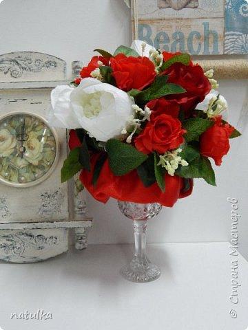 цветочная композиция на лисапете фото 5