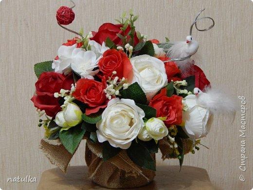 цветочная композиция на лисапете фото 6