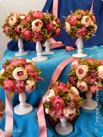 цветочная композиция на лисапете фото 3