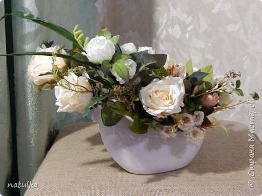 цветочная композиция на лисапете фото 2