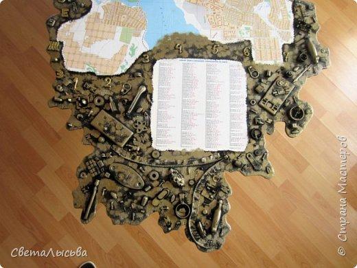 Здравствуйте, все! Эта карта была сделана для друзей, работающих во вторсырье. Основа - фанера, в форме нашего Пермского края, а на ней карта города Лысьва фото 6