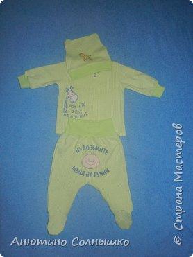 Комплекты малышу.  Ткань интерлок и рибана+термотрансферы. фото 3