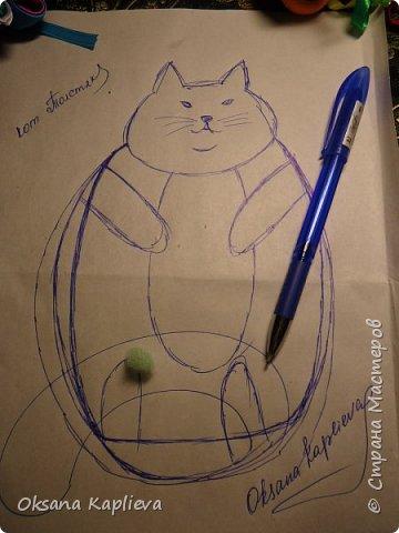 Кот Толстяк с сердечком фото 4