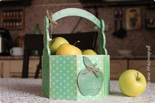 Доброго дня всем, дорогие мастера! Делала я лукошко пасхальное, а получилось яблочное, вот ведь как бывает. фото 2