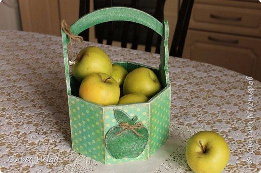 Доброго дня всем, дорогие мастера! Делала я лукошко пасхальное, а получилось яблочное, вот ведь как бывает. фото 3