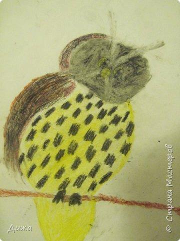 """Я сдаю работу на конкурс """" В мире птиц """". Моя работа № 1 - СНЕГИРЬ Выполнен:  картон, цветная бумага и розовый войлок фото 4"""